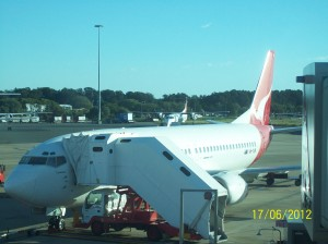 This is the plane that flew me to Canberra.